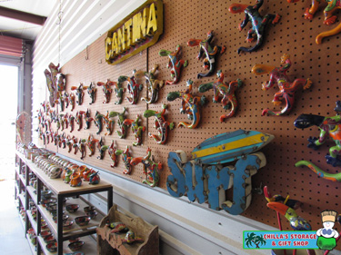 Chilla's Gift Shop & Storage in Port Aransas, Texas.